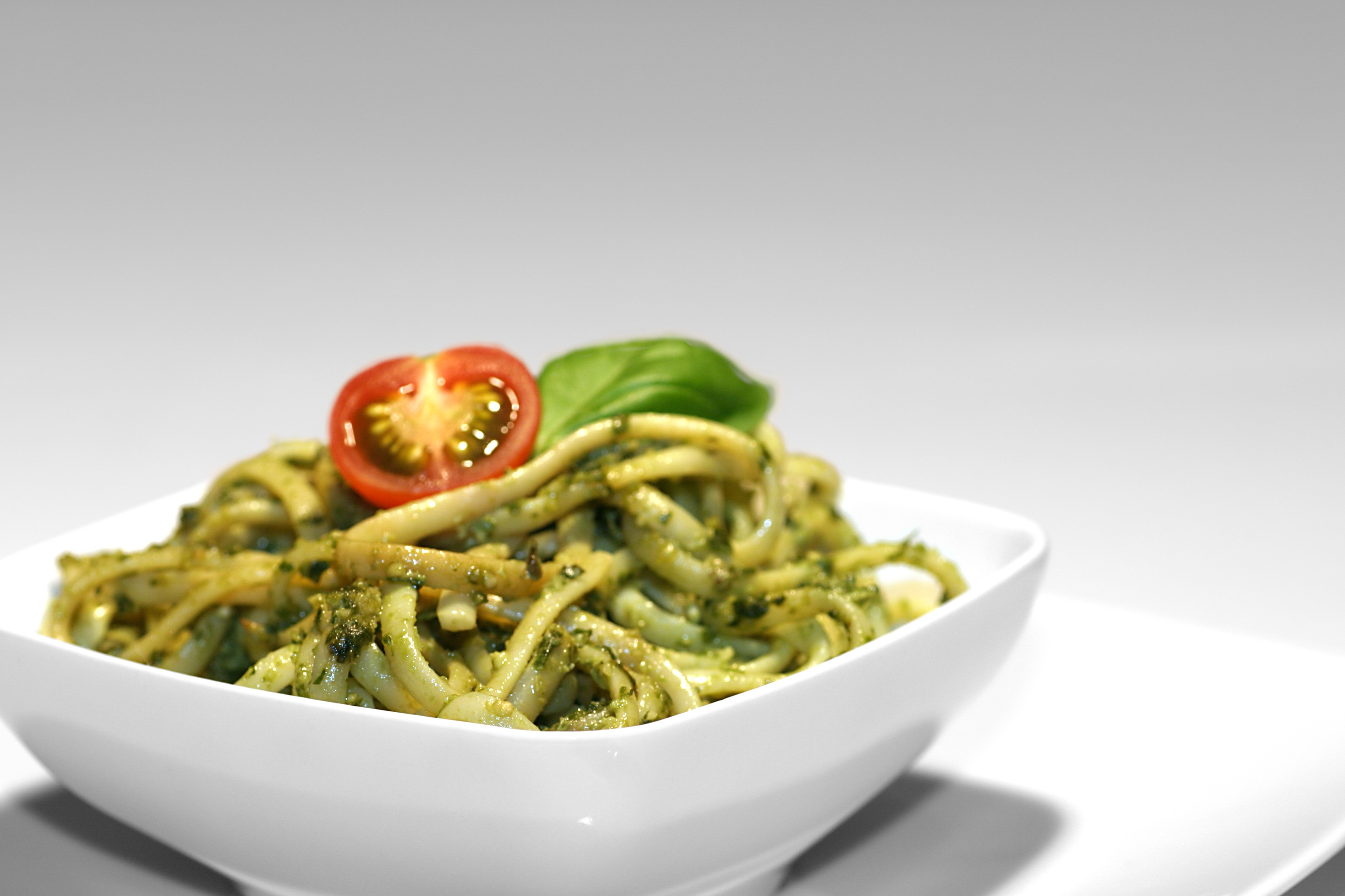 A fresh and simple arugula and walnut pesto recipe from my sisters at 1970 Dogwood Street