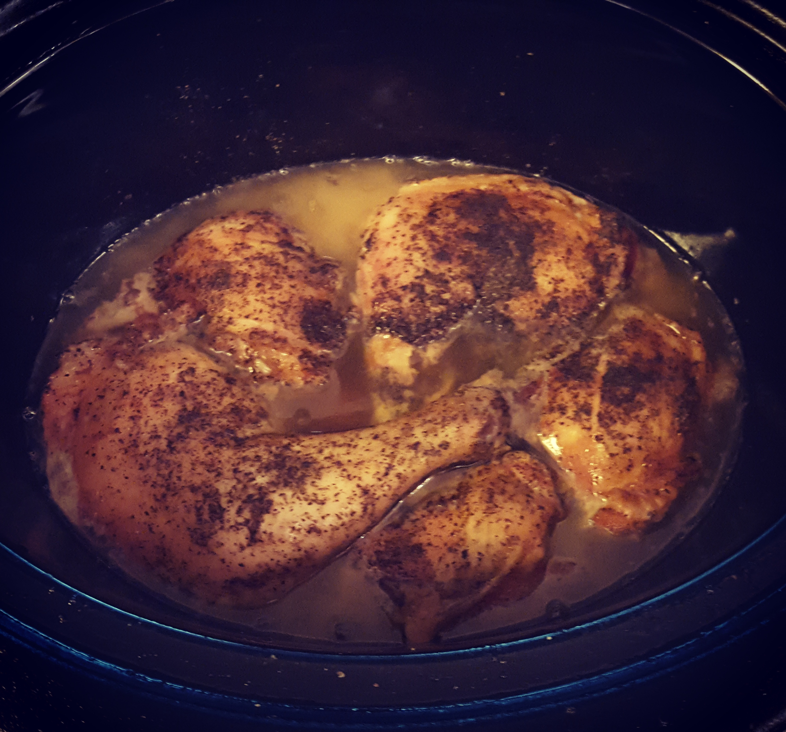 Crock-pot chicken just changed my entire life