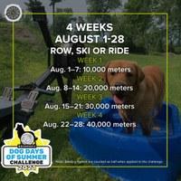 Embarking on a 100,000 meter Concept2 Dog Days Challenge journey