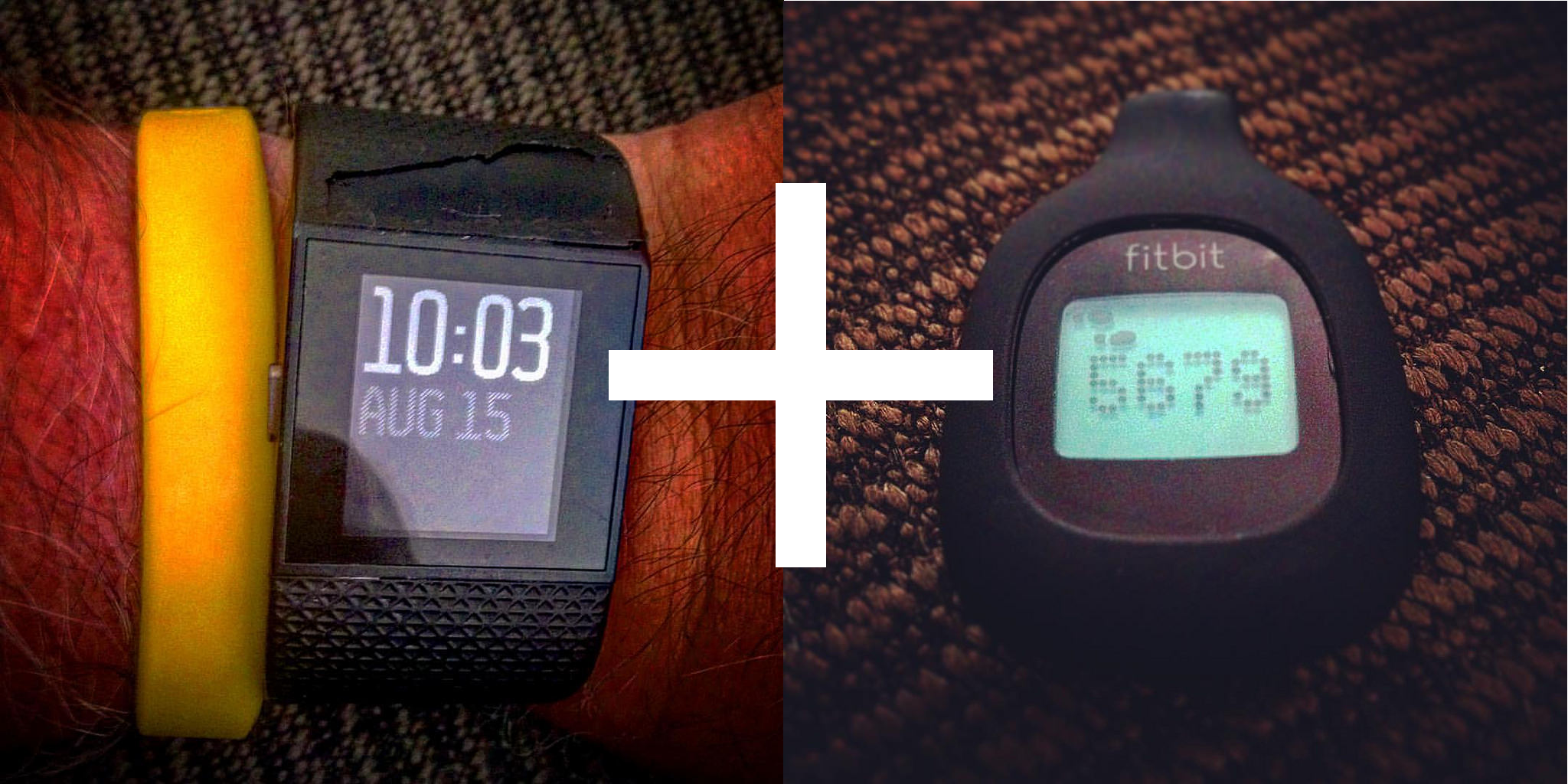 FitBit Surge gypped me on steps so I added a Zip
