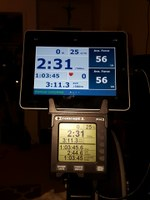 Getting my Concept2 groove on towards 200km