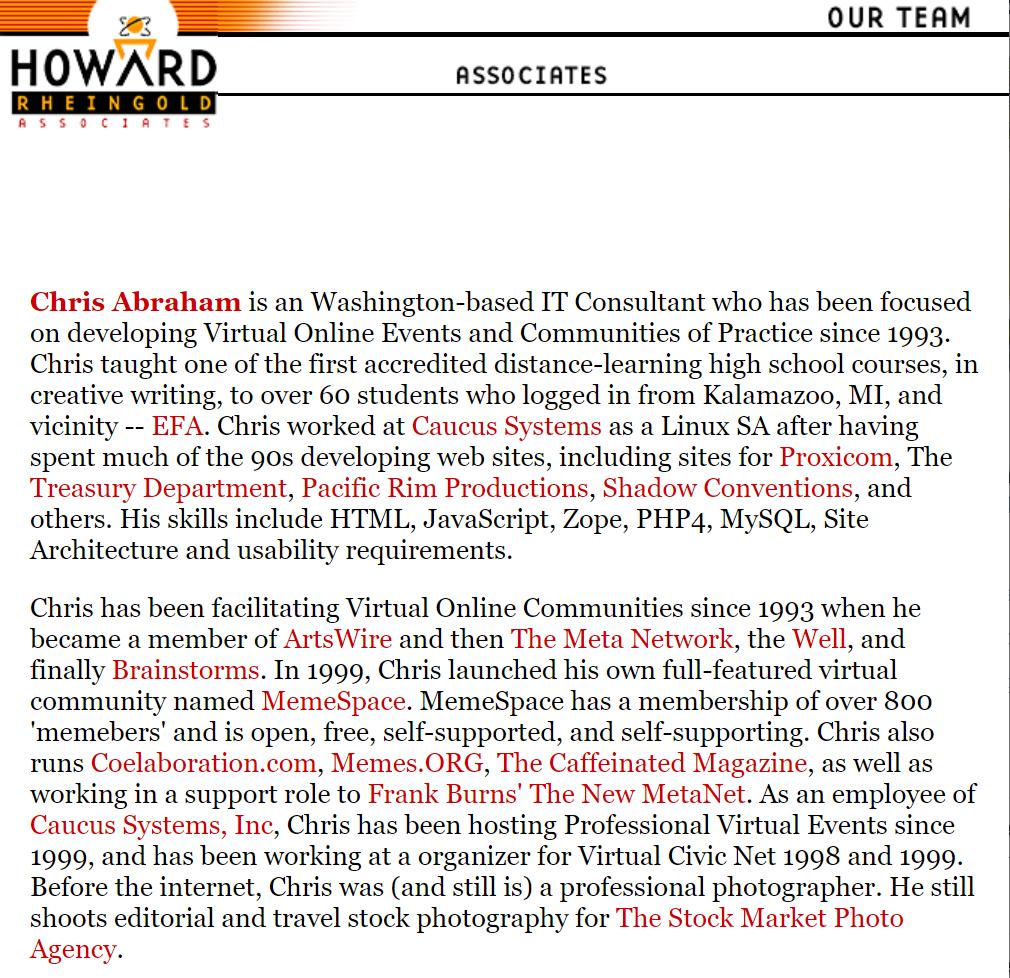 It looks like I am still a legit Howard Rheingold Associate