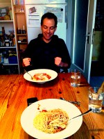 Lunch of Pasta with Frank