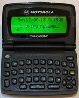 Motorola T900 2-way pager by WebLink Wireless