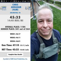 My last 5k in the series was my fastest by half-a-minute!
