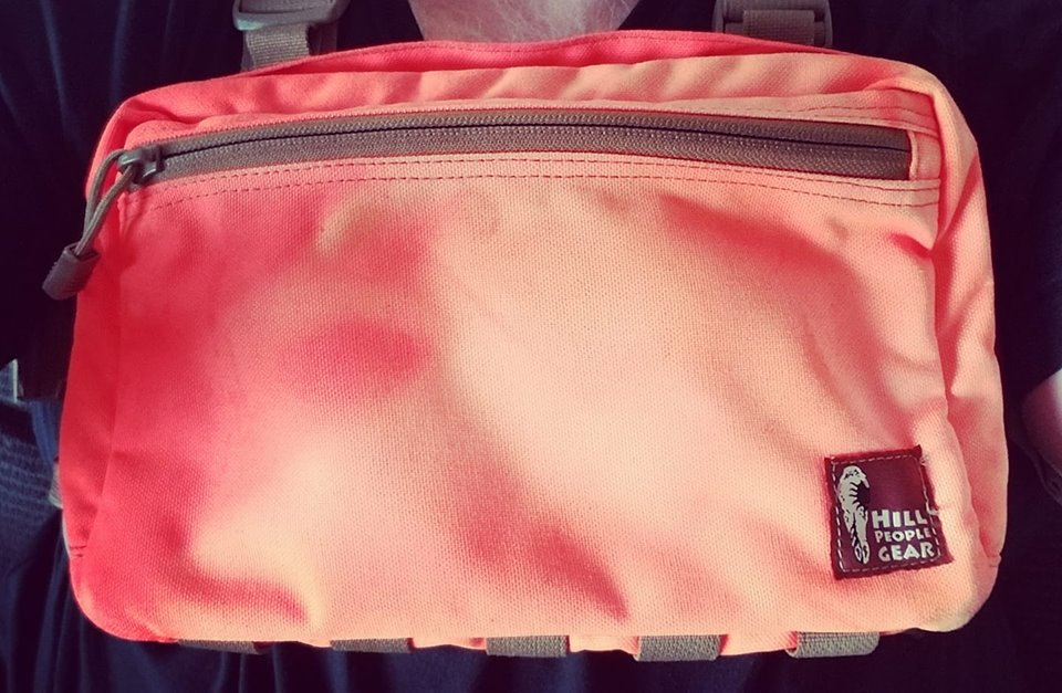 My sun bleached orange kit bag