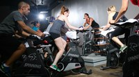 Spinning is awesome at Biker Barre