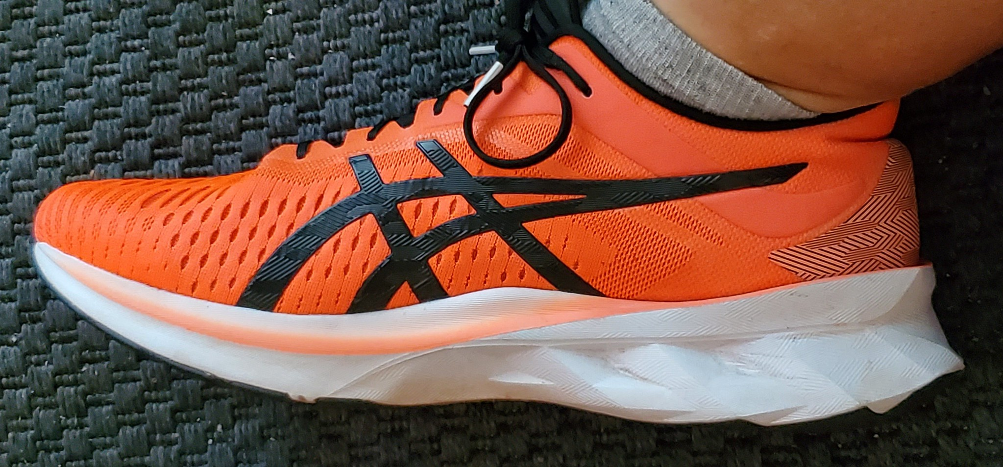 The Asics Novablast is an amazing walking shoe