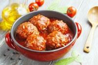 Traditional porcupine meatballs recipe prepared in a pressure cooker