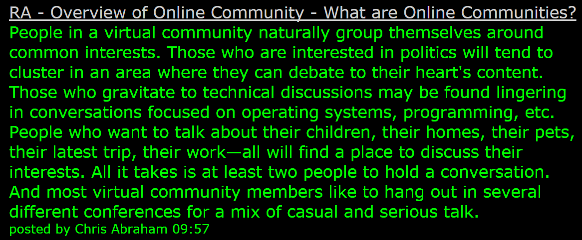 What are Online Communities?