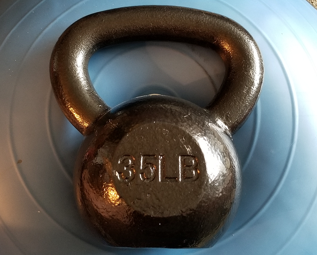 You can't beat an AmazonBasics cast iron kettlebell