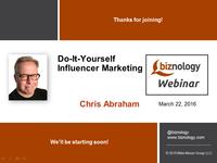 DIY Influencer Marketing Webinar Slides