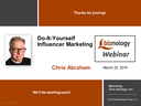 DIY Influencer Marketing Webinar Slides