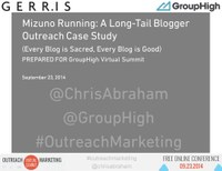 Mizuno Running Mezamashii Long Tail Blogger Outreach Case Study