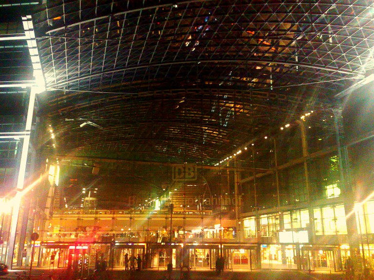 "If I walk across the street, I get to walk into this majestic building, the ""new"" Berlin Hauptbahnhof."