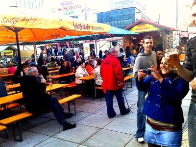 Partying on Alexander Platz