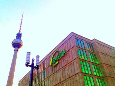 Berliner Fernsehturm and Galeria Kaufhof