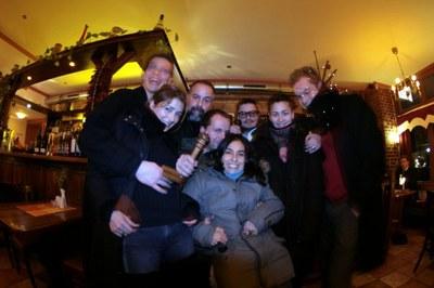 Schneerot Bar: Libia, Kike, Frank, and Me