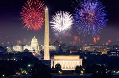 4th of July Fireworks Washington, DC, USA