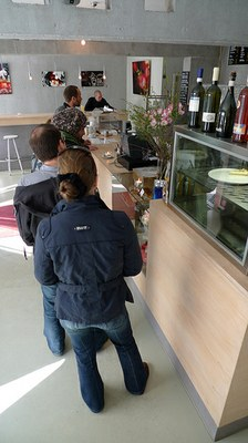 Ordering coffee Kaffeemitte in Berlin