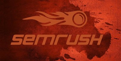Giant Red Painted SEMRush Logo