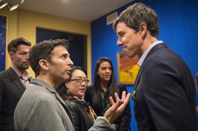 Roger Wolfson with Beto O'Rourke