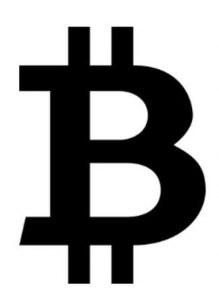 Bitcoin sign ligature symbol
