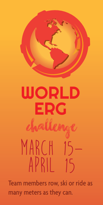 The 2018 World Erg Challenge (co-hosted now with World Rowing) runs every year from March 15–April 15.