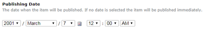 Plone post date form