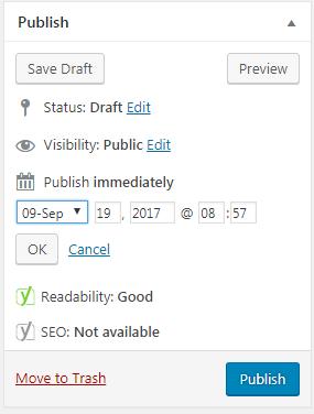Wordpress Published Date Form