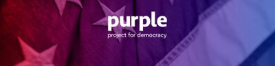 Purple Project for Democracy Logo